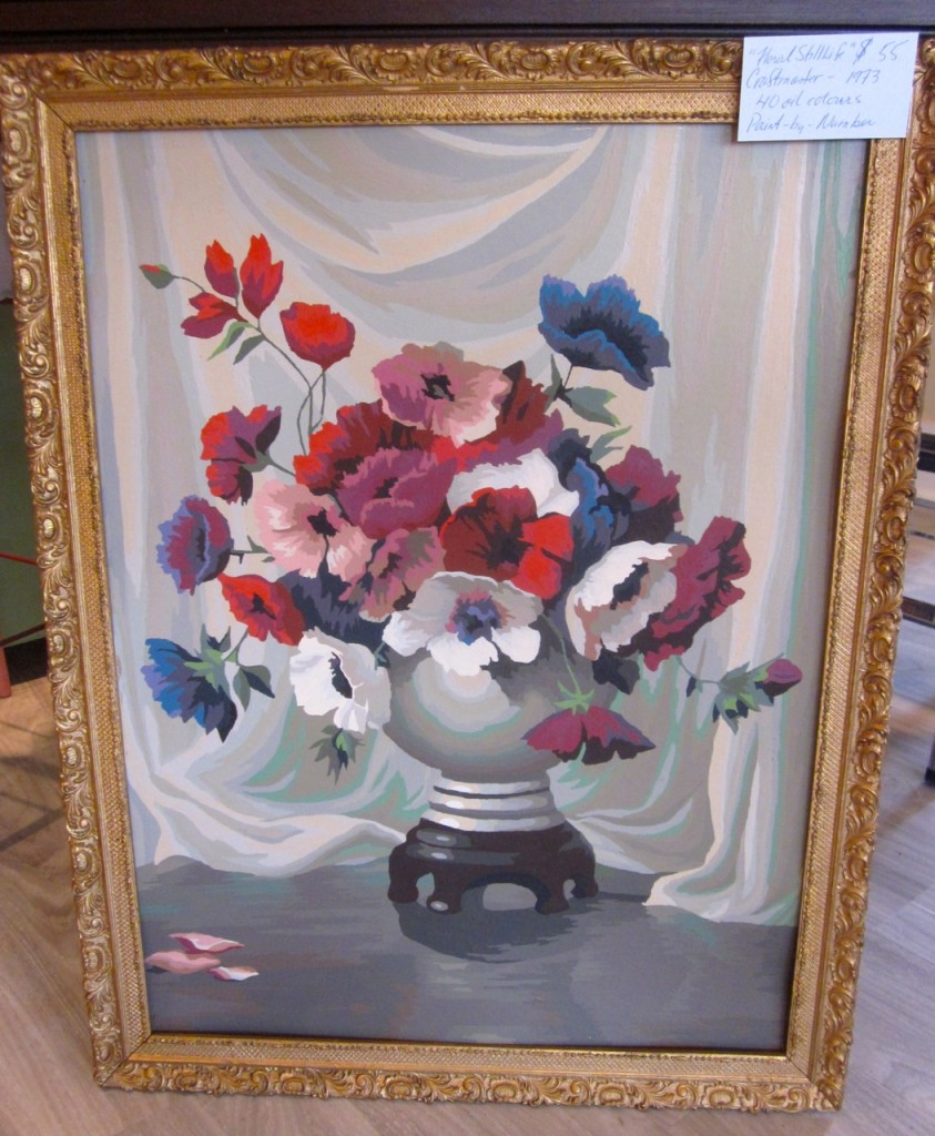 Lovely large still life Paint-by-Number from 1973. 40 oil colours. $55