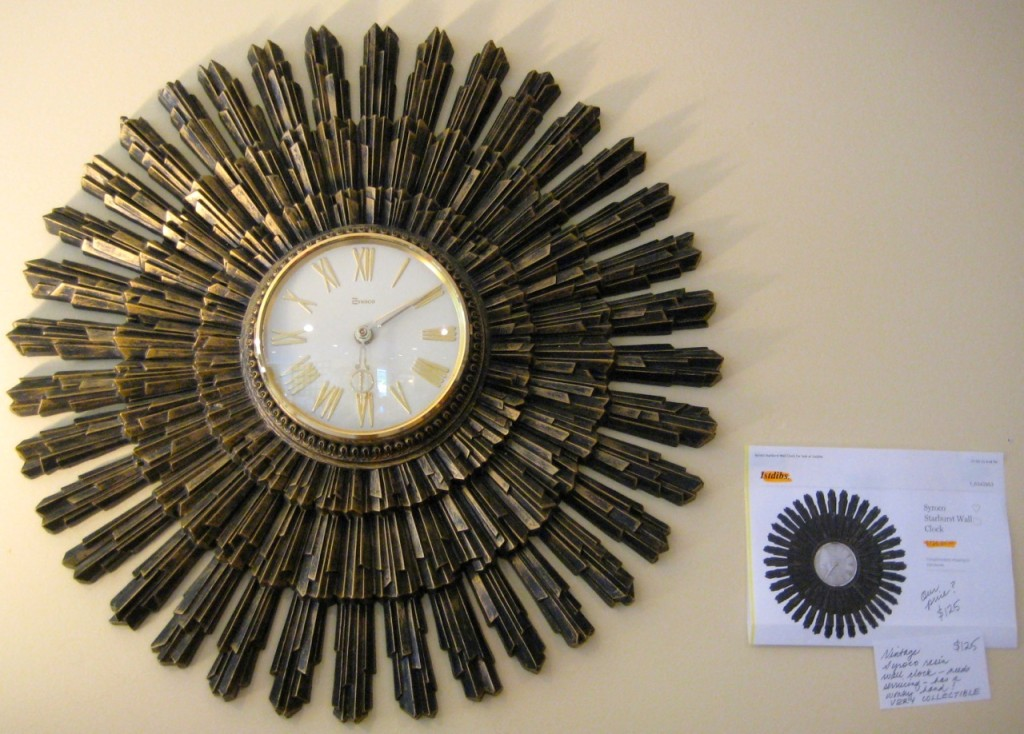 Amazing Syrocco wall clock. (not working for the moment, hence the price) $125