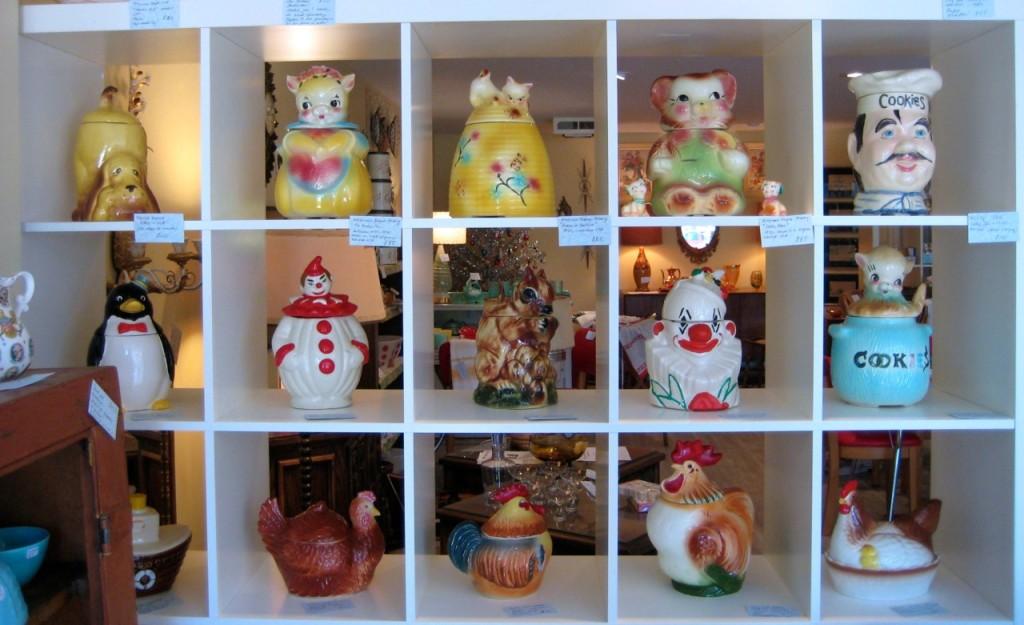 Vintage cookie jars. Various prices. Adorable!