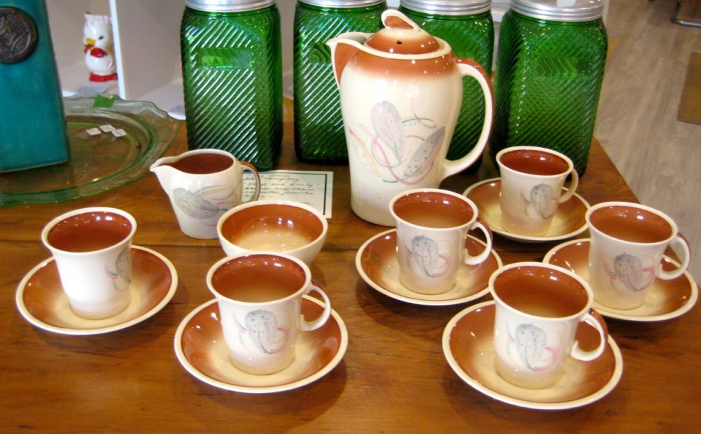Vintage Susie Cooper espresso set Pattern 1163: Grey feather: 1936 Just beautiful! $395 set