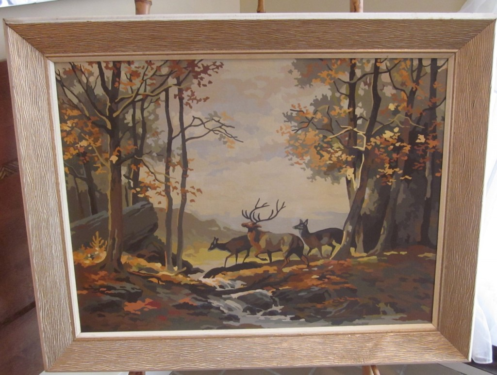 """Autumn Glen"" 40 oil colours, original frame ($40)"