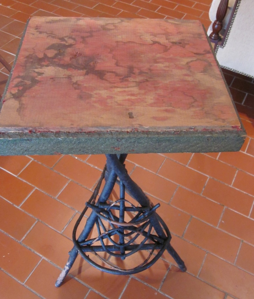 Twig table before transformation.