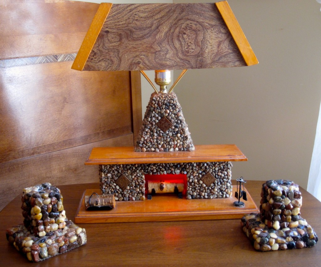 Home made camp lamp with candleholders ($145).