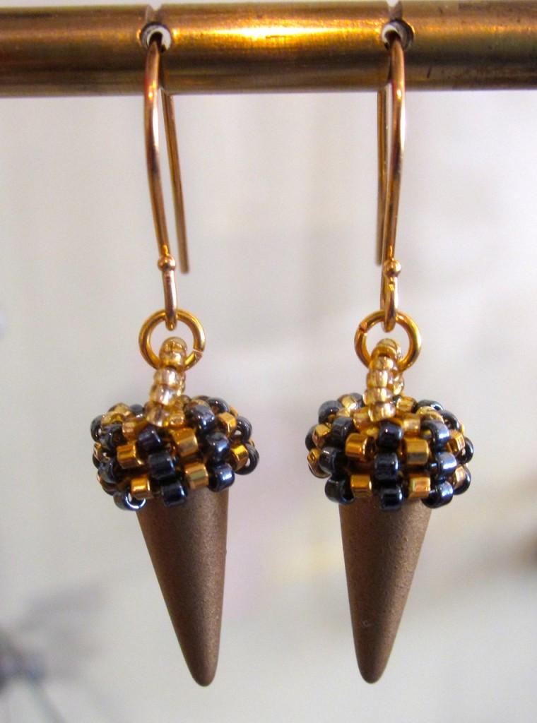 Single earrings $110/pair.