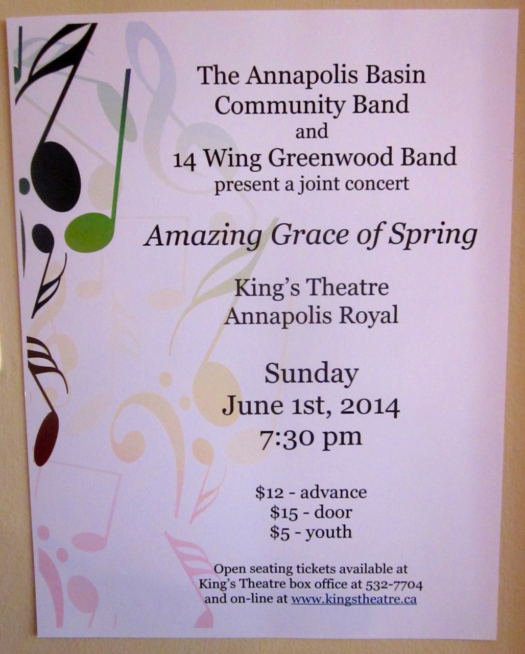 Spring concert this Sunday June 1st