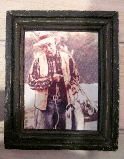 Grandpa's photo in the fish shack.