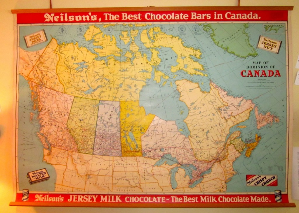 1950s Neilson's Chocolates Map of Canada. $110