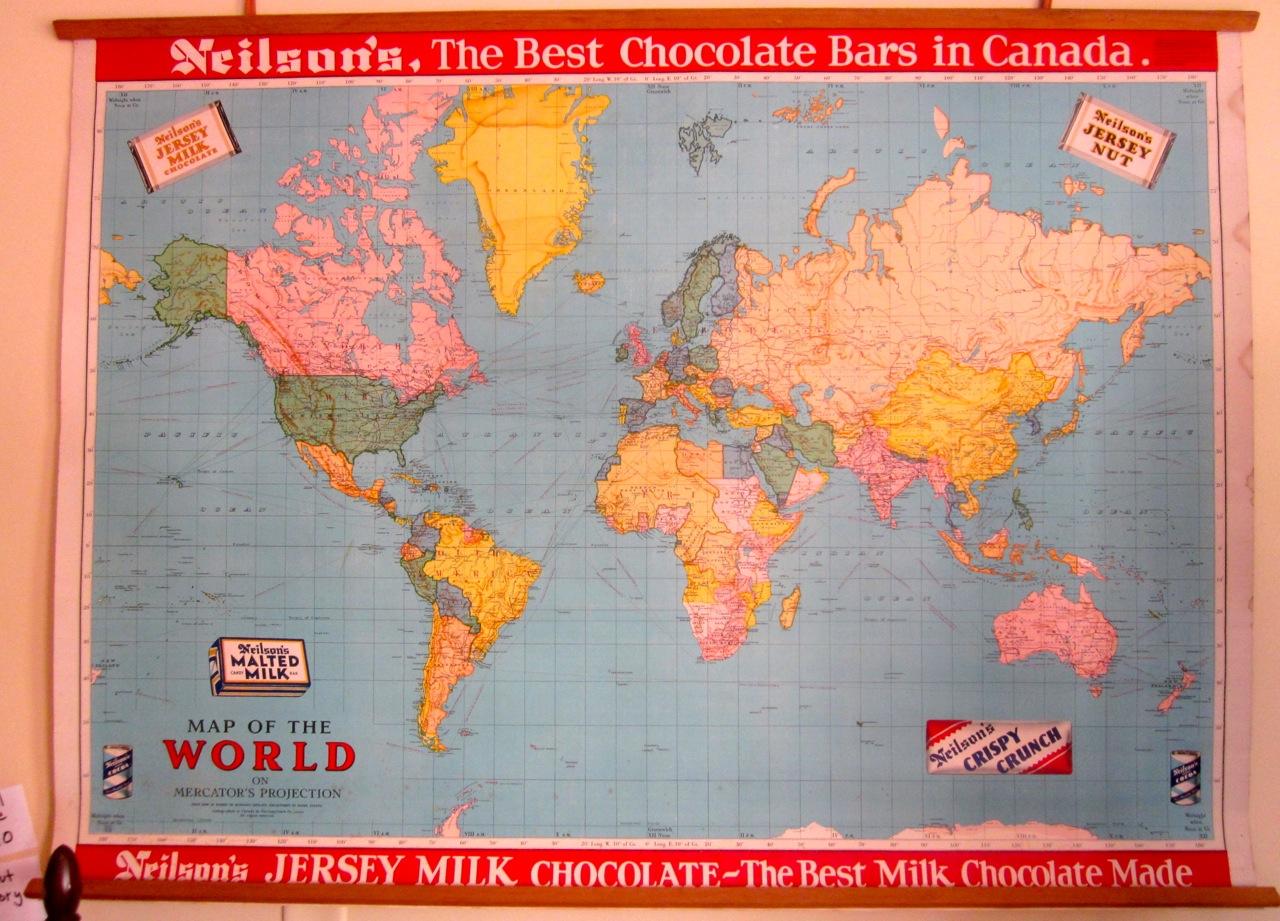 Neilson school maps from 1952 mrs nicholson home neilsons world map 110 gumiabroncs Gallery