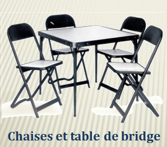 Original Rousseau Metal bridge table and chair set from the 1950s.