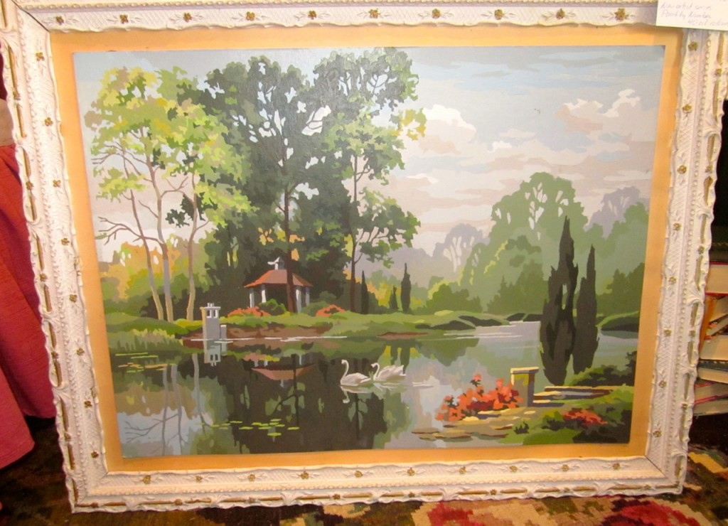 """Tranquil reflections"" 1969. 40 oil colours. $60"