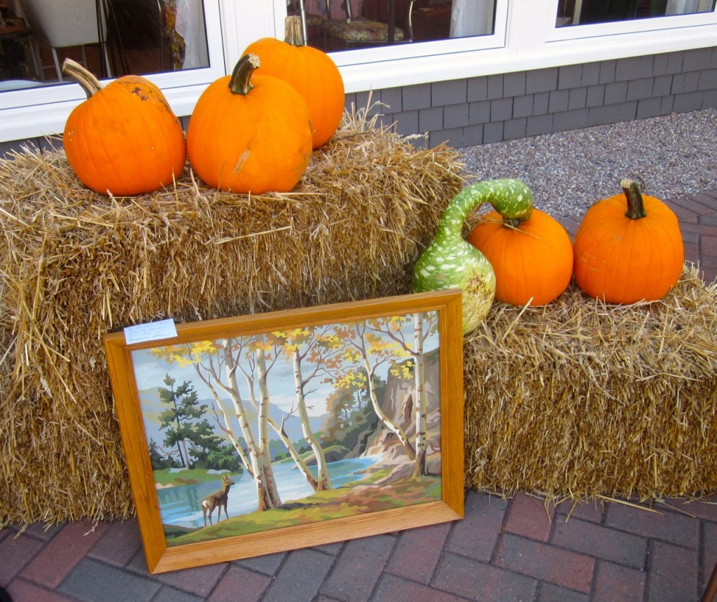 "Wonderful fall colours in Annapolis Royal. Paint by Number ""The Birches"" $35"