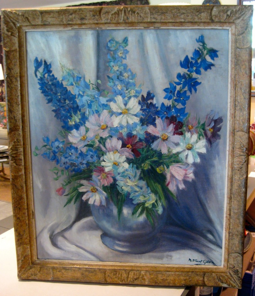 Mary Stewart Gibson Still Life painted in Paris.  Likely 1930s. $350