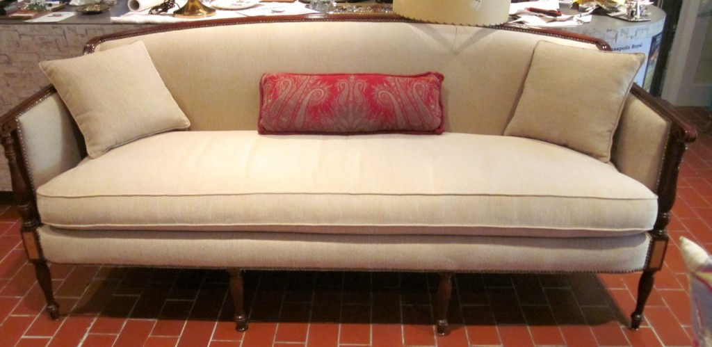 Sofa in the store.
