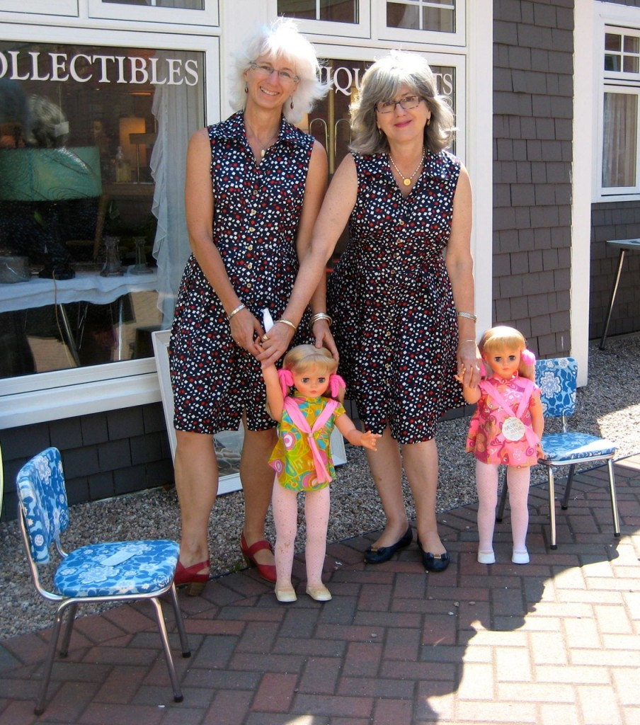 Sisters with sister dolls! Paint the town August 2015
