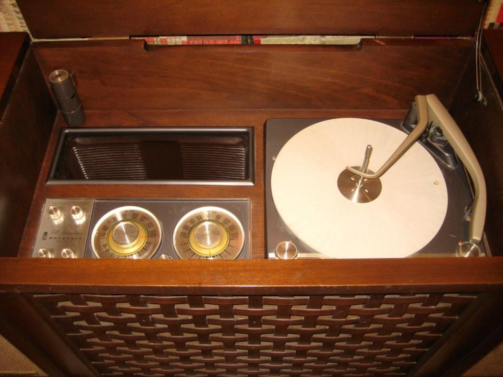 Inside the stereo.