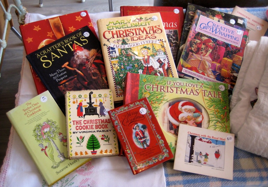 Christmas Craft and cookbooks.