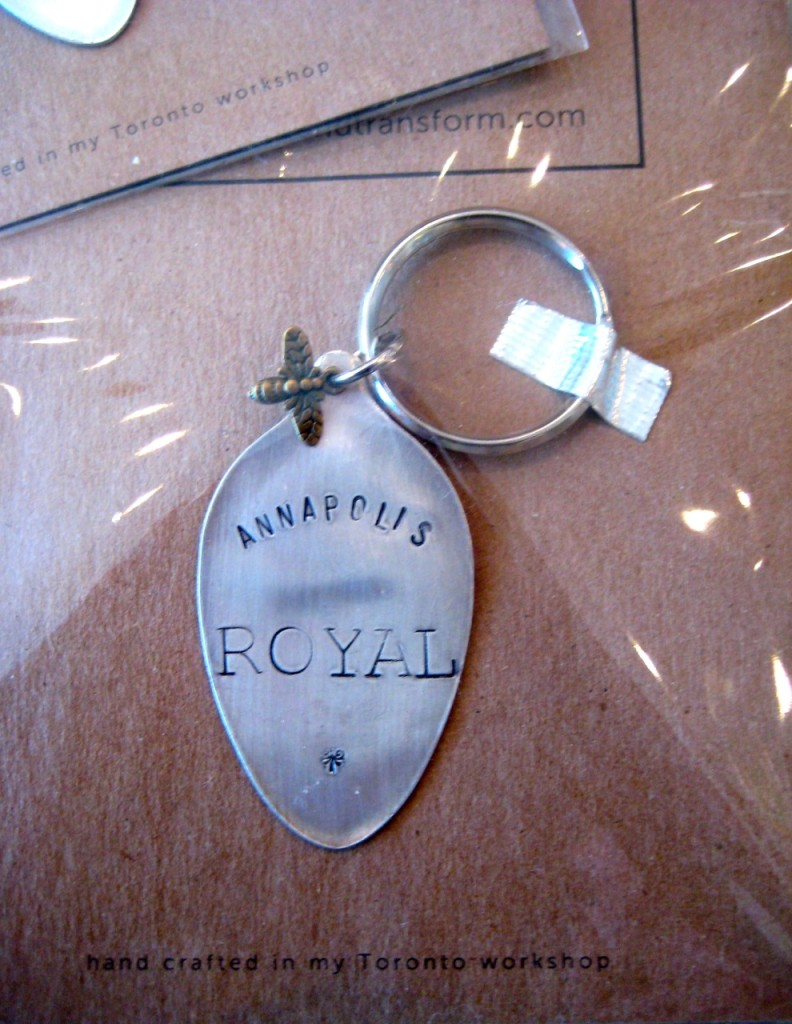 Annapolis Royal stamped key chain $18.95