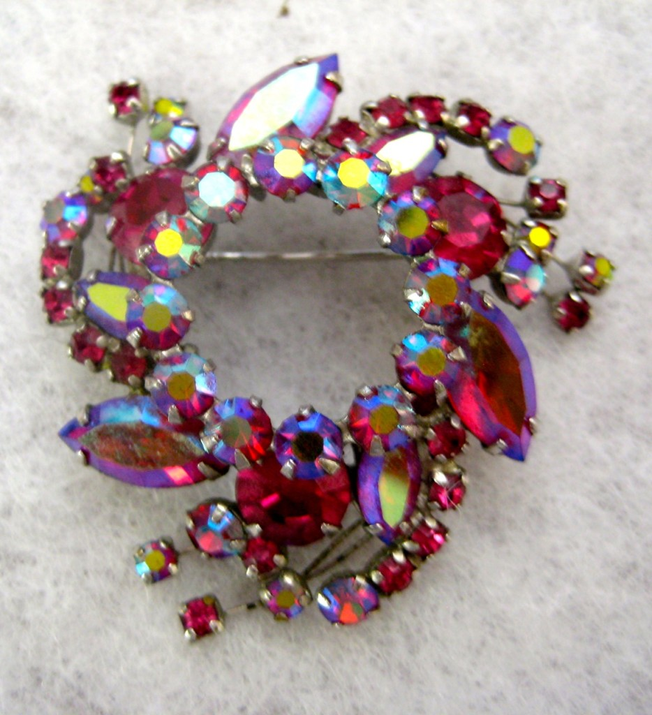 Dazzling Sherman brooch. Marked $95
