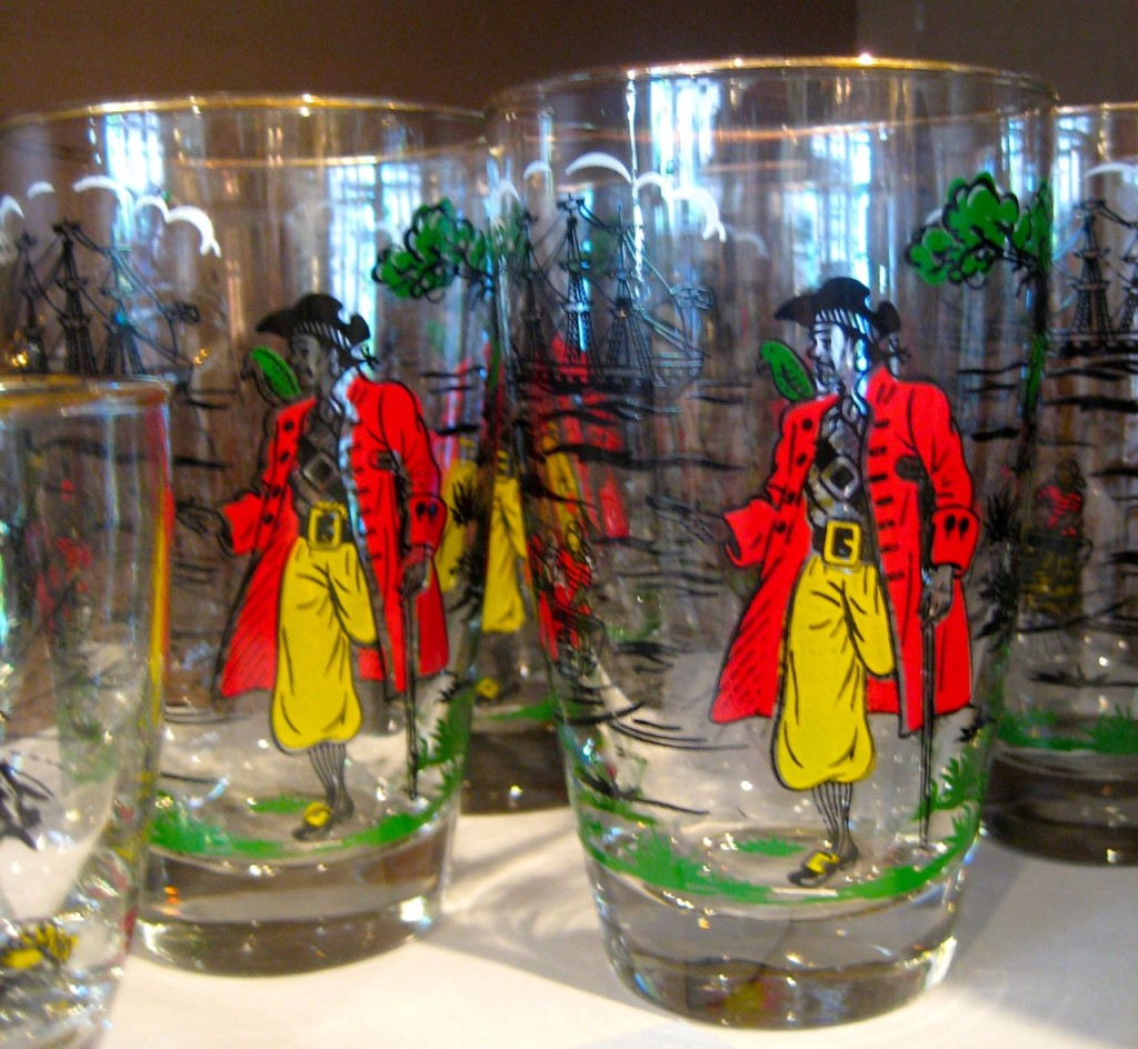 Long John Silver high ball glasses