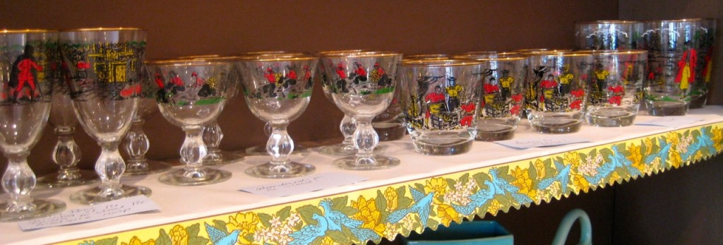 Collection of 28 Treasure Island glasses by Libby $140
