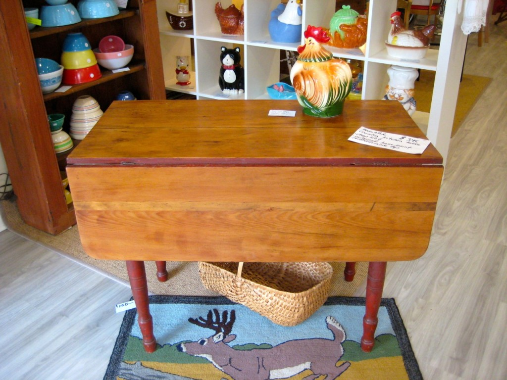 Drop-leaf country kitchen table. $345