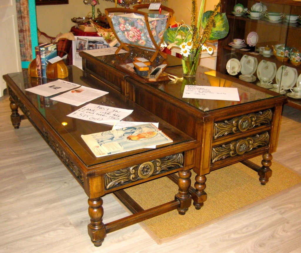 Lane coffee table and two end tables from the early 60s.  Original glass tops. Excellent condition and so practical. $575 set.