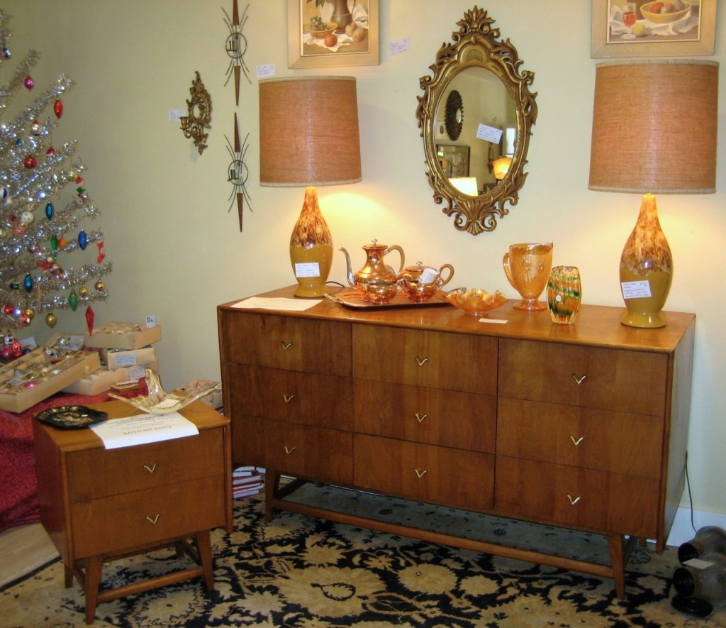 Very practical sideboard or bureau.You choose ! TWO end tables. $650 (three pieces)
