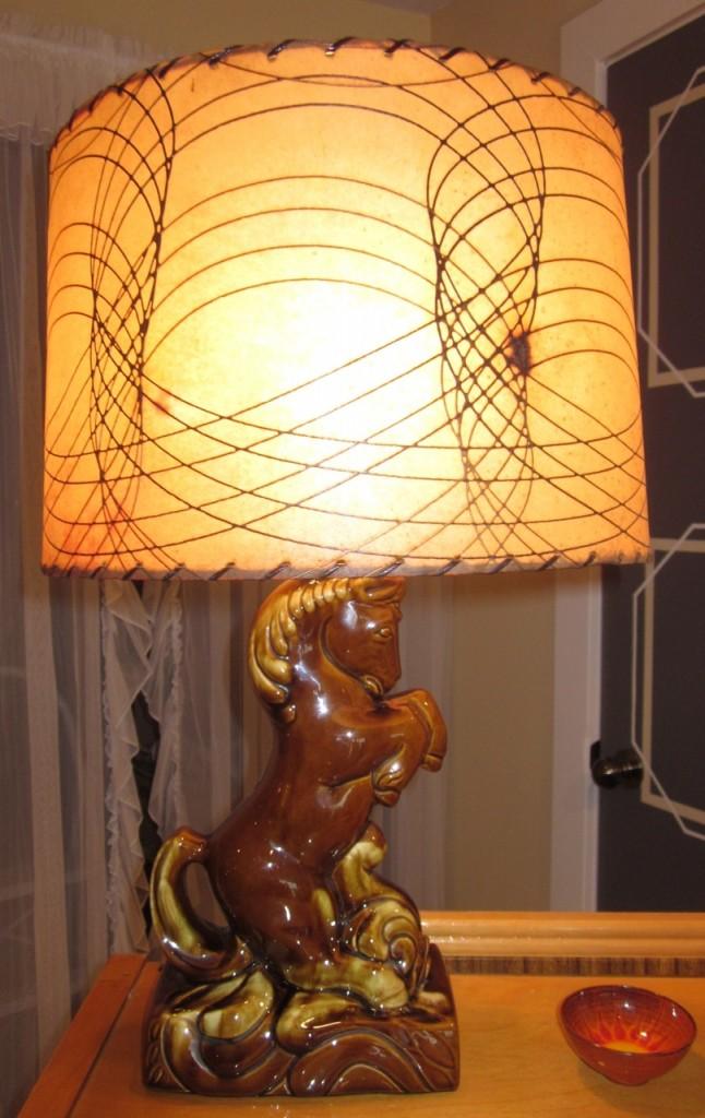 Prancing horse lamp ($145)