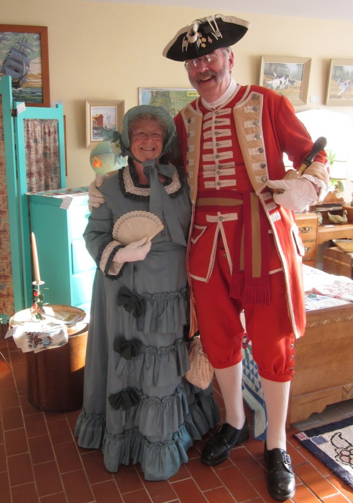 Town Crier and his lovely escort (Peter and Val Davies)