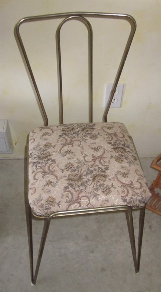 Vanity chair as it came to us.