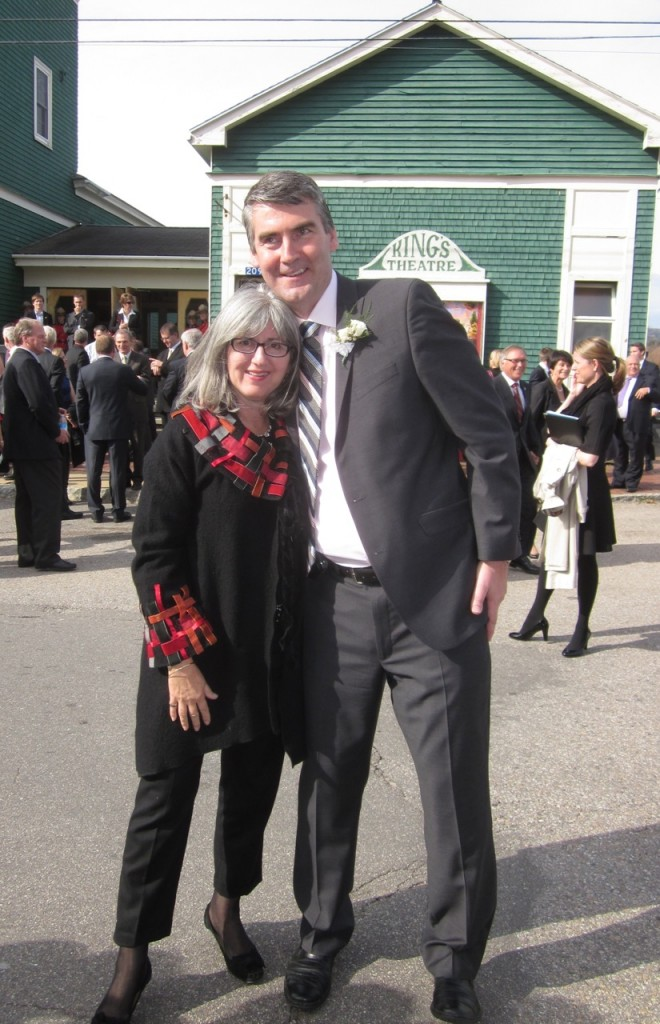 Jane with Stephen McNeil, Premier of Nova Scotia.