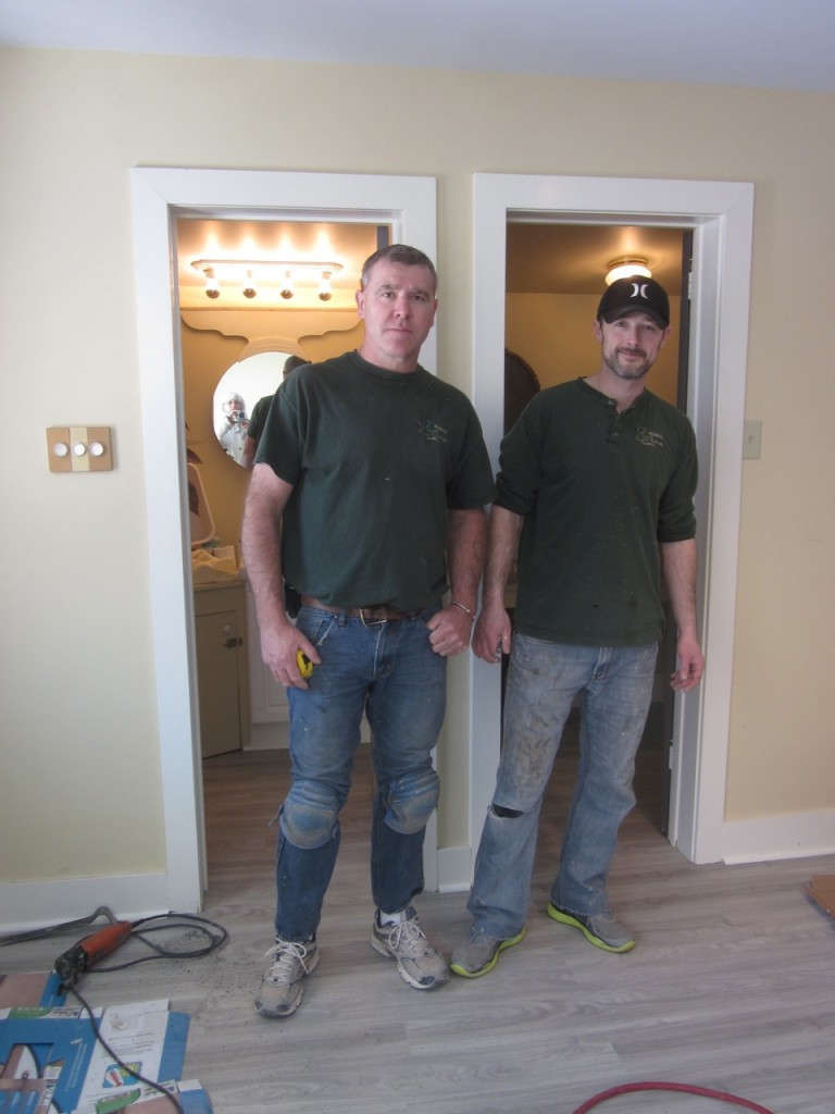 Rob Baker and Jason Doiron from Royson's Flooring in Coldbrook.