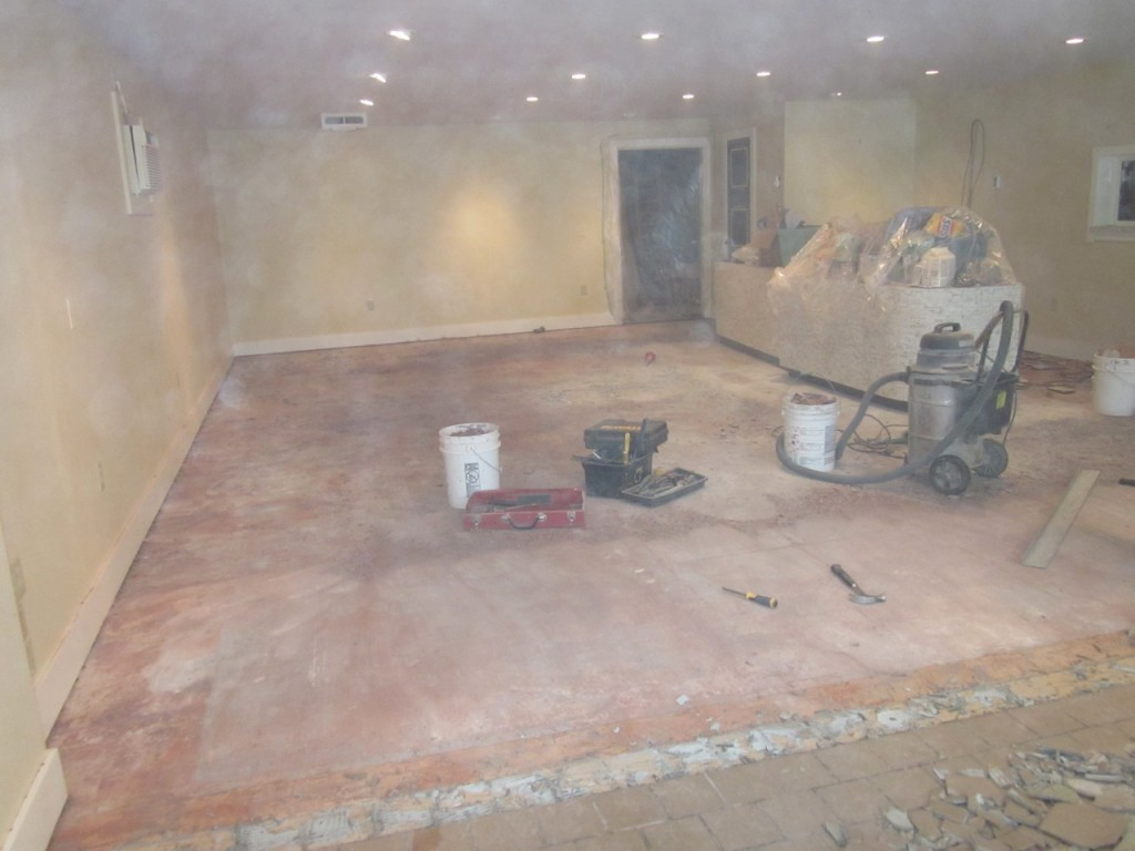 No more tiles but lots of dust!