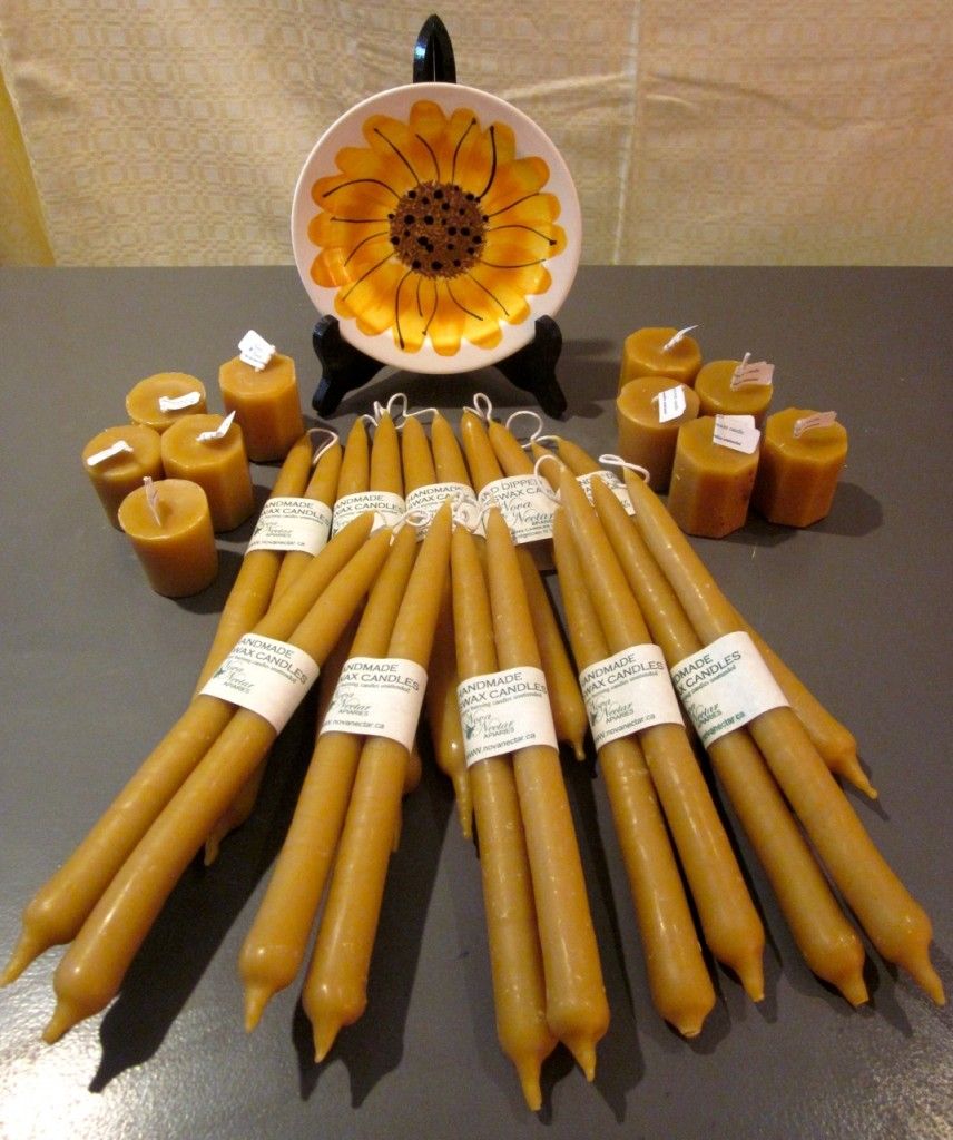 Nova Nectar candles Dipped tapers $10.95/pair Votives $4.95 each