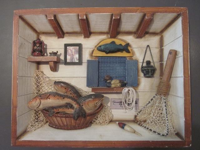 Funky fish diorama. $35