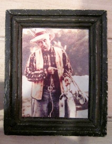 Grandpa's photo in the fish shack.