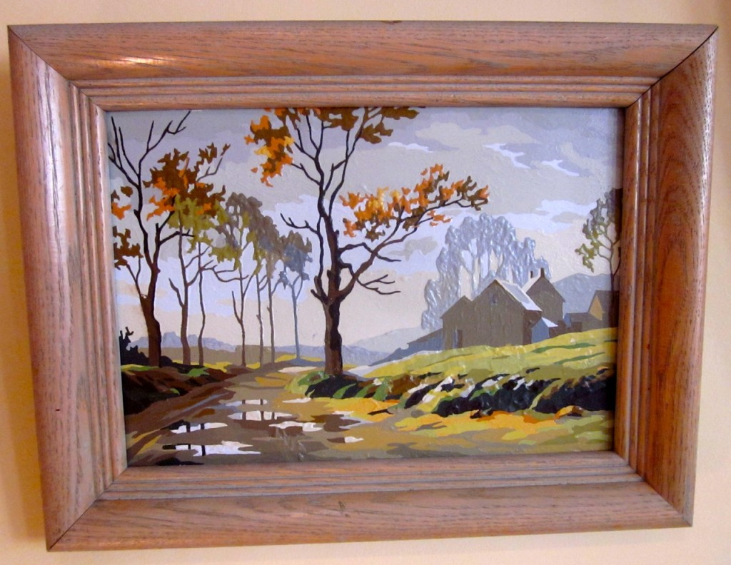 """Autumn Haze"". 1969. 22 oil colours. We have the pair. $40/pair"