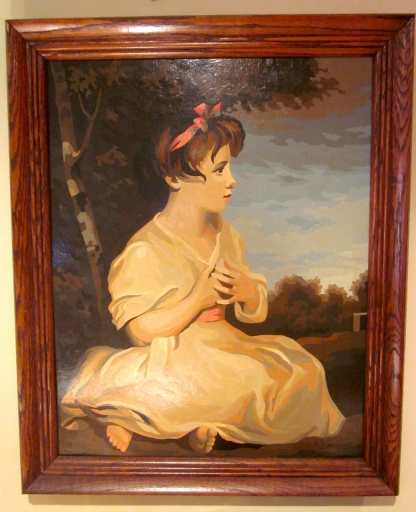 "Our favourite! ""Age of innocence"" by Sir Joshua Reynolds. Masterpiece series. Signed by the ""artist"". M. Butler 1969. $75"