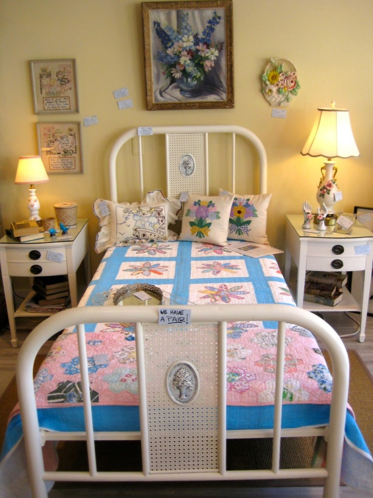 PAIR of white metal beds - newly painted. Original springs and bed rails. $475 for the pair.