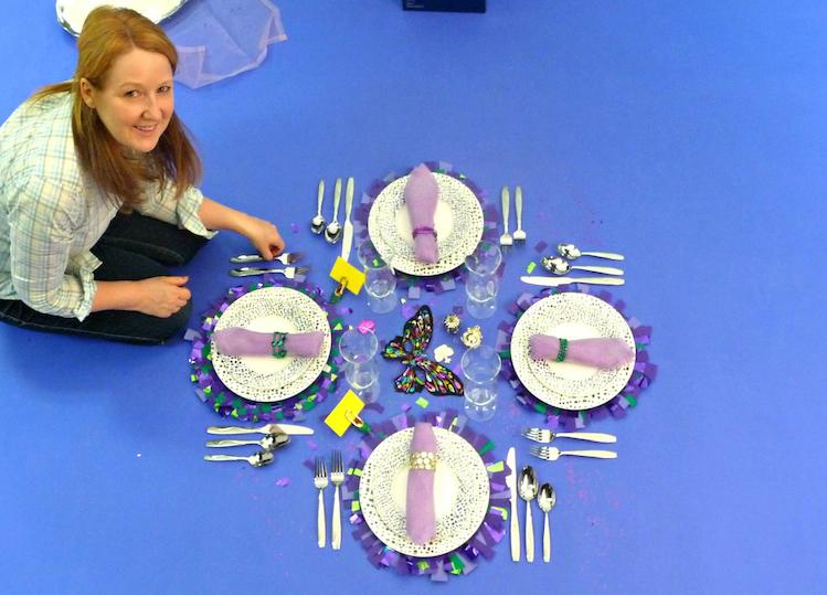 Monica Forrestall sets a Seaside Table
