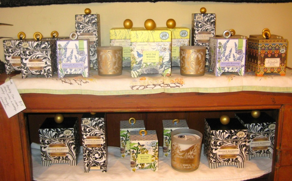 Large soy candles: $36 Small soy candles: $27